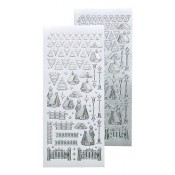 Winter scenery stickers silver