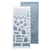 Winter scenery stickers ice blue