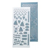 Winter scenery stickers mirror blue