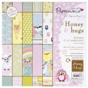 6x6 paper pack 160gsm - honey & hugs by stephanie dyment