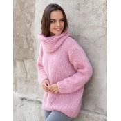 Oversized trui met losse kraag