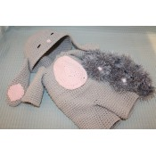 "Kledingset ""Onesie Rabbit Grey"""