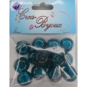 Crea Bijoux Beads 15 mm 14 st Turkoois
