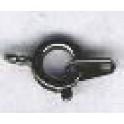 Veerringsluiting 7 mm 5 st zwart