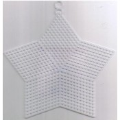 Plastiek stramien ster 13 cm