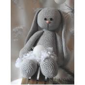 Funny Bunny Basic zittend lichtgrijs XXL