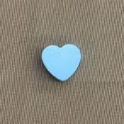 Houten hart 20 mm lichtblauw