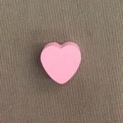 Houten hart 20 mm roze