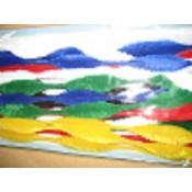 Zak chenille draad ass kleuren - 18 st