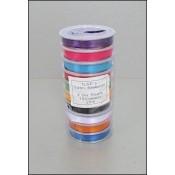 Satijnlint 6 mm - 10 rol assorti kleuren