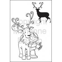 Eline's Clear Stamps Reindeer
