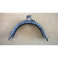 Portemonneesluiting 8,5 cm oud zilver
